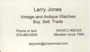Larry Jones Business Card